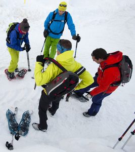 Pratiquants de raquettes à neige TSL Symbioz